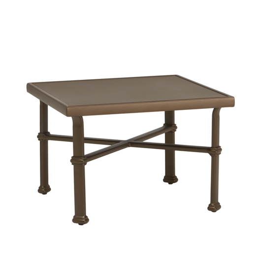 """Picture of 26"""" SQUARE OCCASIONAL TABLE, SOLID ALUMINUM TOP"""