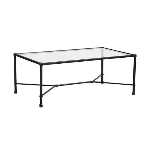 """Picture of 26"""" X 43"""" COFFEE TABLE, GLASS TOP"""