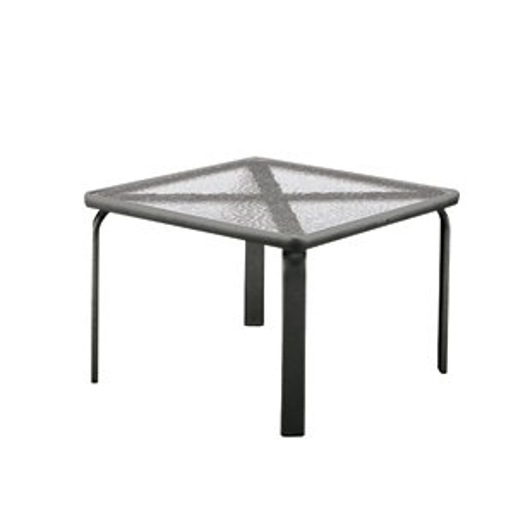 """Picture of 22"""" SQUARE OCCASIONAL TABLE, GLASS TOP"""