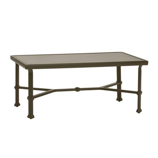 """Picture of 26"""" X 43"""" COFFEE TABLE, SOLID ALUMINUM TOP"""