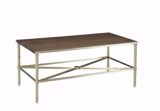 Picture of ACACIA BRASS COCKTAIL TABLE