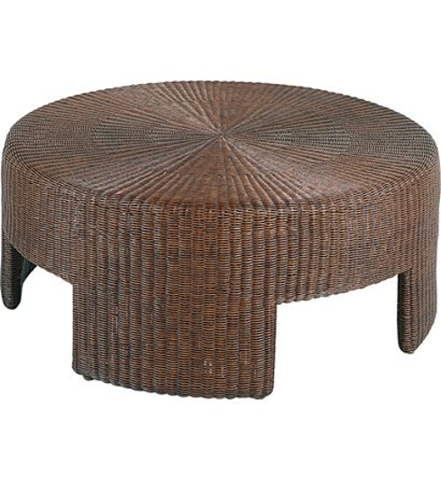 """Picture of 48"""" WICKER ROUND COFFEE TABLE"""