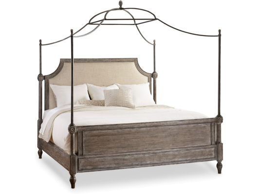 Picture of BEDROOM TRUE VINTAGE KING FABRIC UPHOLSTERED CANOPY BED