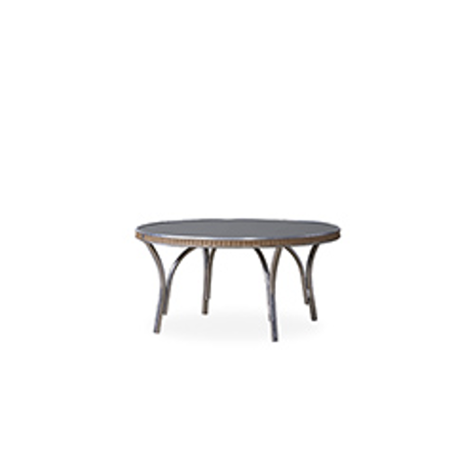 """Picture of ALL SEASONS 33"""" ROUND COCKTAIL TABLE WITH CHARCOAL GLASS"""