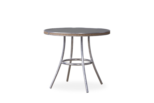 """Picture of ALL SEASONS 33"""" ROUND BISTRO TABLE WITH CHARCOAL GLASS"""