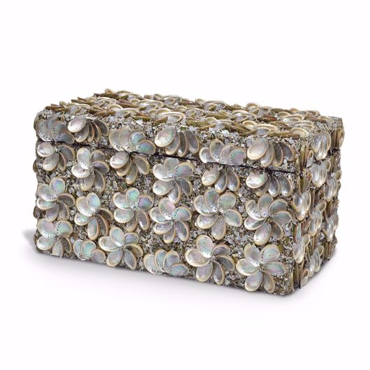 Picture of ABALONE SHELL RECTANGULAR BOX