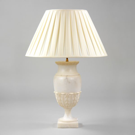 Picture of ALBA ALABASTER URN TABLE LAMP