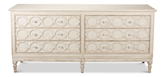 Picture of 30 CIRCLES CREDENZA, WHITEWASH