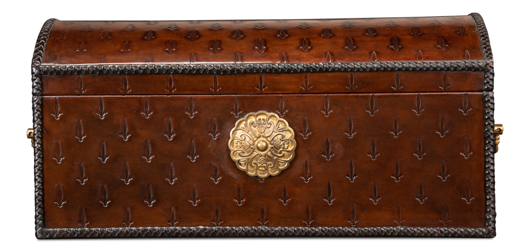 Picture of BARON'S LEATHER BOX, OXBLOOD