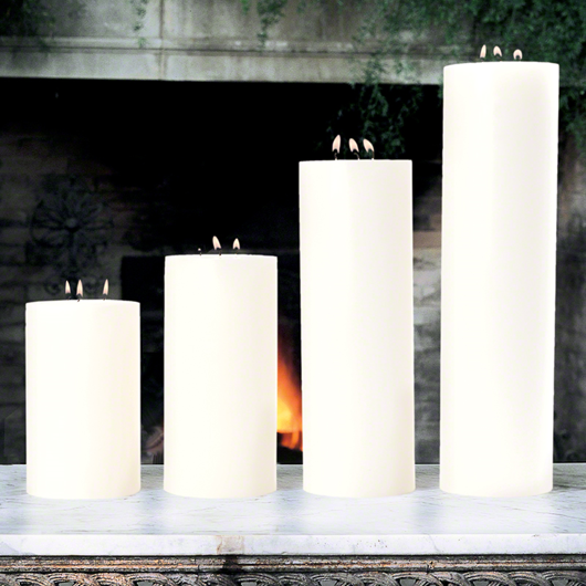 """Picture of 3 WICK PILLAR CANDLE-UNSCENTED-5"""""""