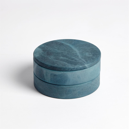 Picture of ALABASTER SWIVEL BOX-BLUE