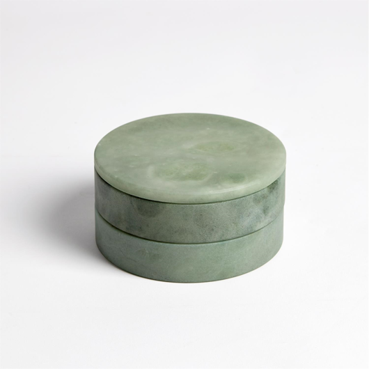 Picture of ALABASTER SWIVEL BOX-GREEN