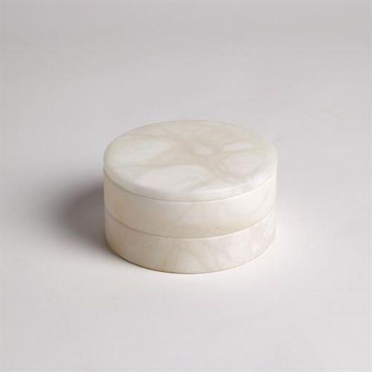Picture of ALABASTER SWIVEL BOX-WHITE