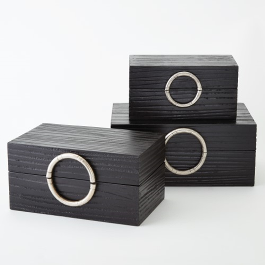 Picture of ARTISAN JEWELRY BOX-BLACK/NICKEL