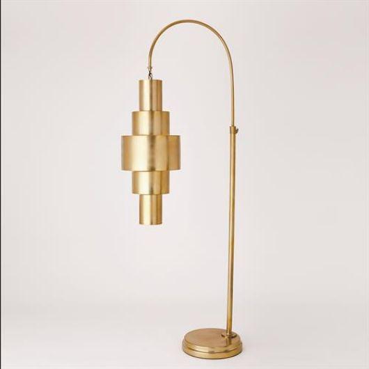 Picture of BABYLON FLOOR LAMP-ANTIQUE BRASS