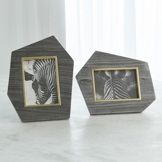 Picture of BRASS FRAME GREY STONE PHOTO FRAME