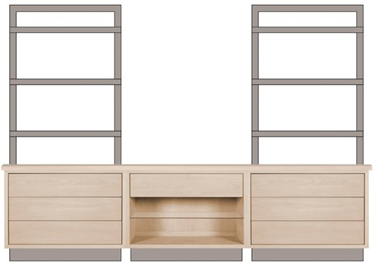 Picture of BAYLOR ETAGERE HOME OFFICE